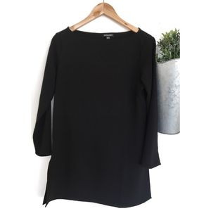 American Apparel | Black Tunic with Side Slit Sz L